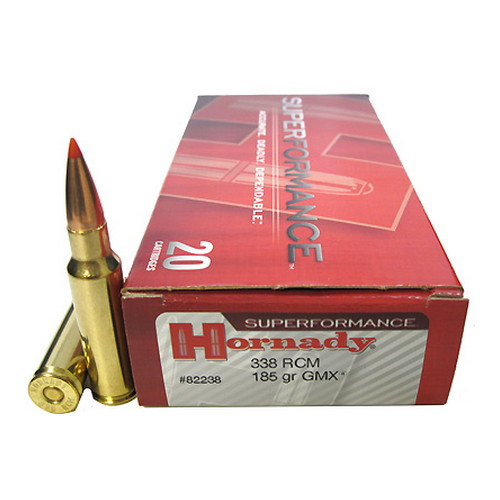 Hornady Hornady 338 RCM By Superformance, 185gr GMX (20 Per Box) 82238