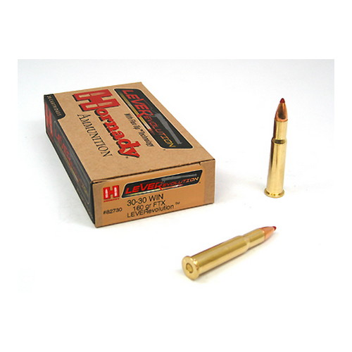 Hornady Hornady 30-30 Winchester by 30-30 Win, 160gr, Leverevolution, (Per 20) 82730