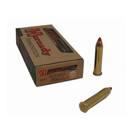 Hornady 45-70 Government by Hornady 325gr, Leverevolution, (Per 20)