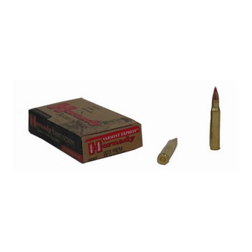Hornady 223 Remington Ammunition by Hornady 55 Gr V-Max (Per 20)