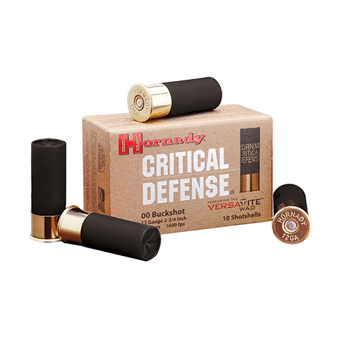 Hornady Hornady 12 Gauge Buckshot by Critical Defense, 00 Buckshot, 10 Per Box 86240