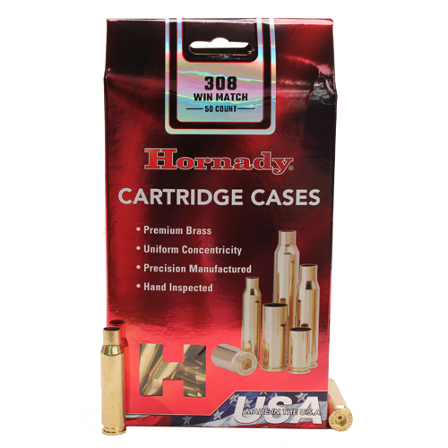 Hornady Unprimed Brass by Hornady 308 Winchester Match Grade (Per 50)