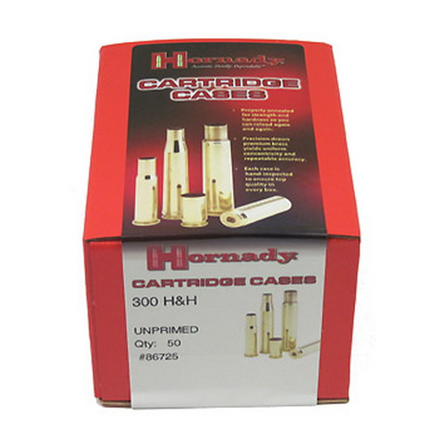 Hornady Unprimed Brass by 300 H&H (Per 50) 86725