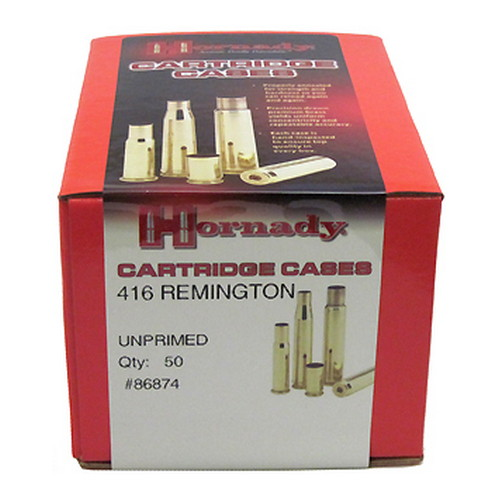 Hornady Hornady Unprimed Brass by 416 Remington/50 86874