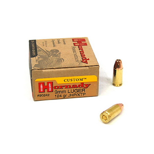 Hornady Hornady Custom 9mm 124 Grain XTP Hollow Point (Per 25) 90242