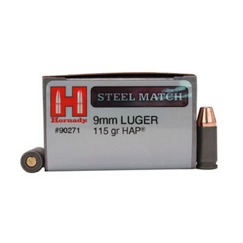 Hornady Hornady 9mm Luger by 115 Gr HAP Steel (Per 50) 90271