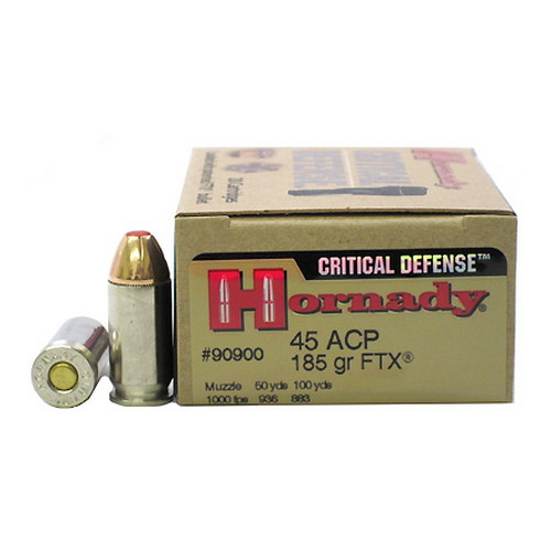 Hornady Hornady 45 Automatic Colt Pistol by Critical Defense, 185gr (Per 20) 90900