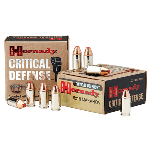 Hornady Hornady 9x18 Makarov 90gr FTX Critical Defense /25 90 Gr, FTX Critical Defense/25 91000