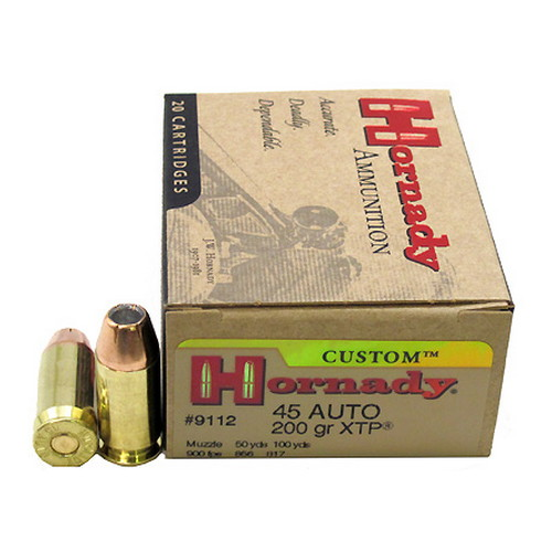 Hornady Hornady 45 Automatic Colt Pistol by 45 ACP, 200 Gr, XTP, (Per 20) 9112
