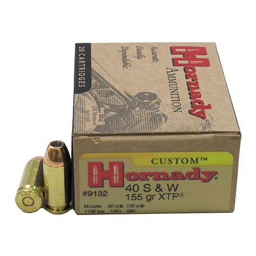 Hornady Hornady 40 Smith & Wesson by 40 S&W, 155 Gr, XTP, (Per 20) 9132