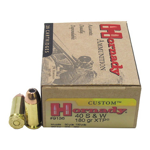 Hornady Hornady 40 Smith & Wesson by 40 S&W, 180 Gr, XTP, (Per 20) 9136