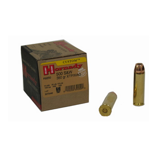 Hornady Hornady 500 Smith & Wesson by 500 S&W, 350 Gr, XTP/Mag, (Per 20) 9250