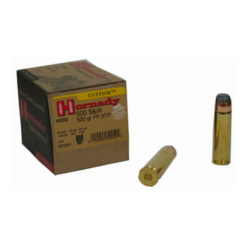 Hornady Hornady 500 Smith & Wesson by 500 S&W, 500 Gr, FP XTP, (Per 20) 9252