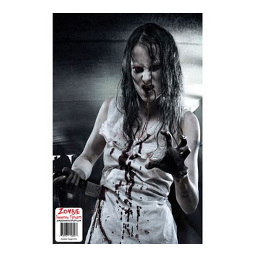 Impact Rolling Targets Zombie Shooting Target, 10 Pack Girl Bloody Knife