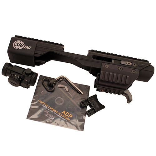 SigTac ACP w/Unversal Railed Pistol Adapter QD Mount/Red Dot/Sling