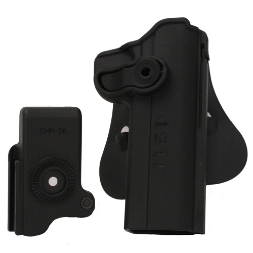 SigTac SigTac Retention Roto Paddle Holster 1911 w/Integrated Mag Pouch HOL-SIG1911-MP
