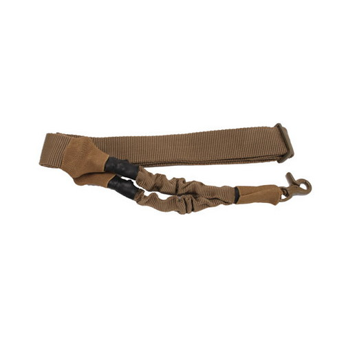 SigTac SigTac 1 Point Sling w/Bungee and Snap Hook Flat Dark Earth SLG-1P-BNGE-FDE