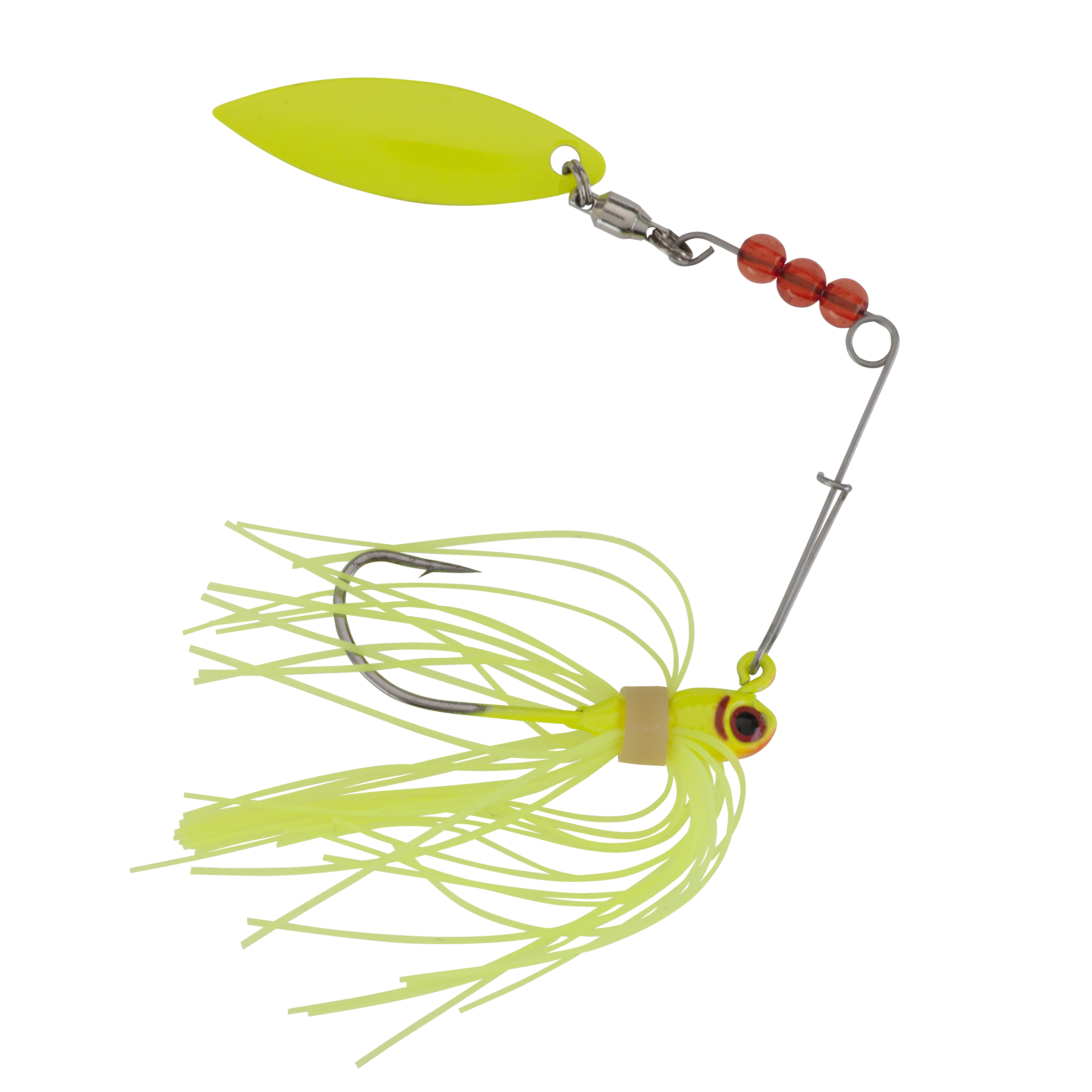 """Johnson Beetle Spin 'R Bait Chartreuse 2"""" 1293548"""