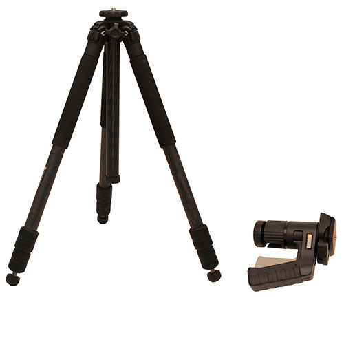 Kruger Optical Tripod Full Size Carbon Fiber w/Pistol Grip