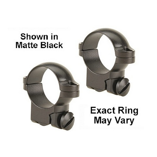 "Leupold Ruger #1 & 77/22 Extension Ring Mounts 1"" High Matte Black 52307"