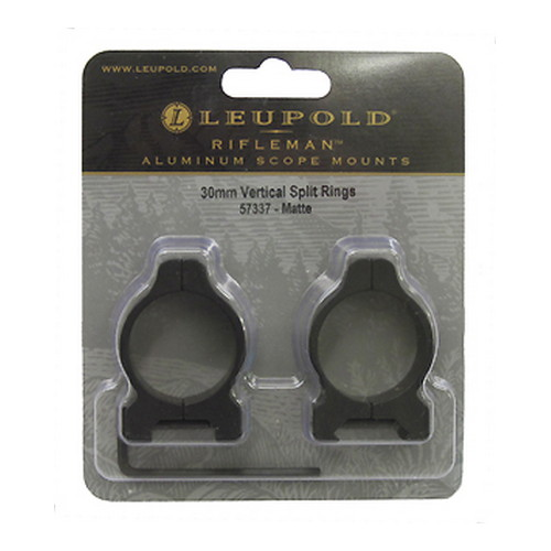 Leupold Leupold Rifleman 30mm Vertical Split Rings 30mm Vertical Split, Matte 57337