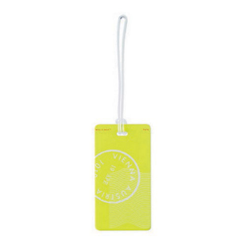 Humangear Plastic Neon Luggage Tag Yellow