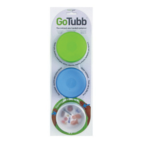 Humangear Humangear GoTubb 3-Pack Clear/Green/Blue Medium, 2 oz. HG0220