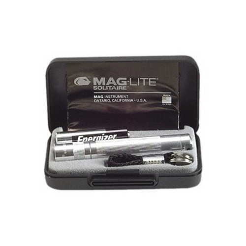 Maglite Maglite Solitaire Flashlight Presentation Box, Silver K3A102