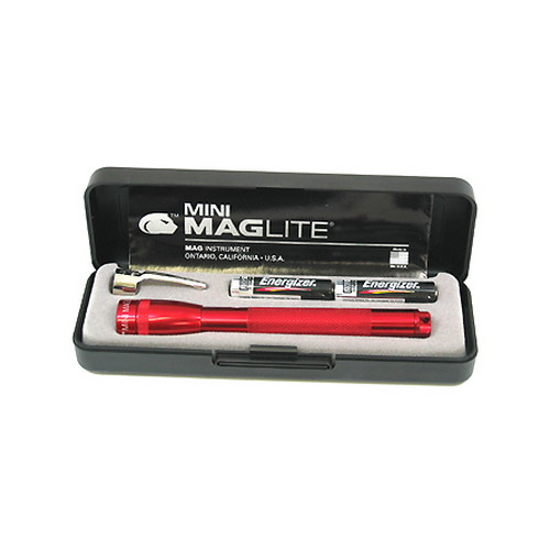 Maglite Maglite Mini-Mag Flashlight AAA in Presentation Box (Red) M3A032
