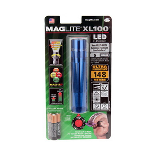 Maglite Maglite XL 100 3-Cell AAA LED Blister Pack Blue XL100-S3116