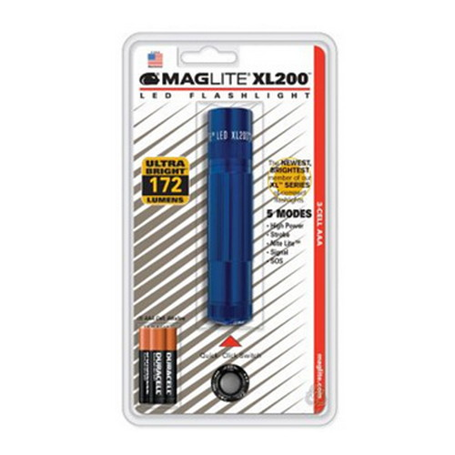 Maglite Maglite XL200 3 Cell AAA LED, Blister Pack Blue XL200-S3116