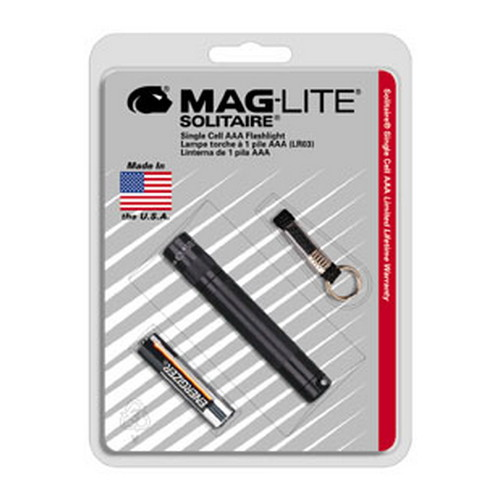 Maglite Maglite Solitaire Flashlight AAA in Blister Package (Black) K3A016