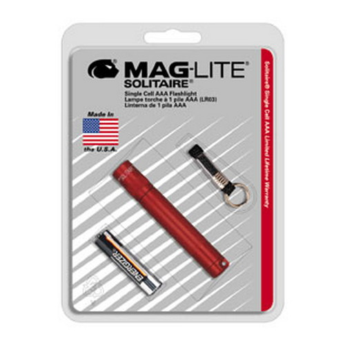 Maglite Maglite Solitaire Flashlight AAA in Blister Package (Red) K3A036