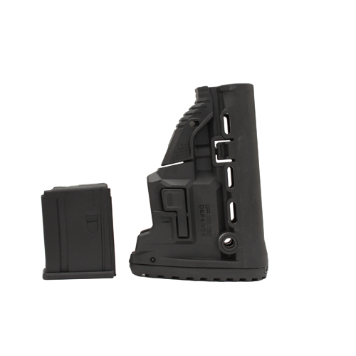 Mako Group Mako Group M4/AR15 Survival Stock w/Mag Carrier Black GL-MAG-B