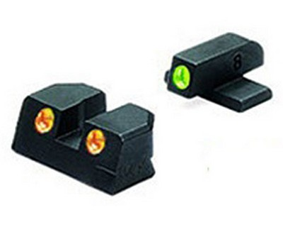 Mako Group Sig Sauer Tru-Dot Sights 9mm & 357 Sig, Green/Orange, Fixed