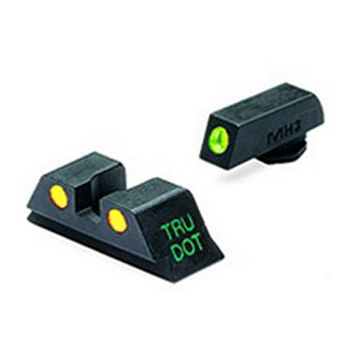Mako Group Mako Group Glock - Tru-Dot Sights 9mm/357 Sig/.40 S&W/.45 GAP, Green/Yellow, Fixed Set ML10224Y