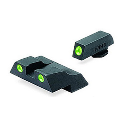 Mako Group Glock - Tru-Dot Sights G26 & 27 Green/Green Fixed Set