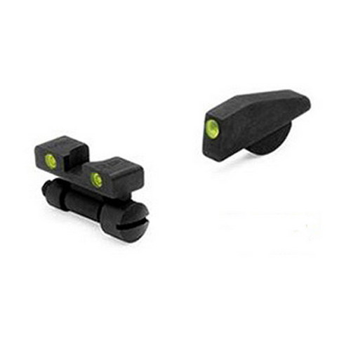 Mako Group S&W - Tru-Dot Sights K,L & N Revolvers Adjustable Set, High Front Sight
