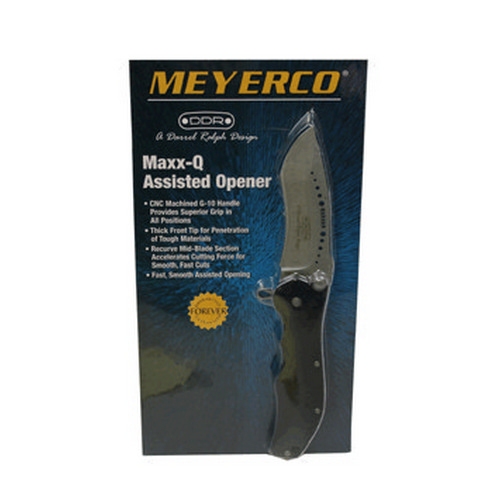 Meyerco Meyerco MAXX-Q Assisted Opener Honed MFDRMQ1AO
