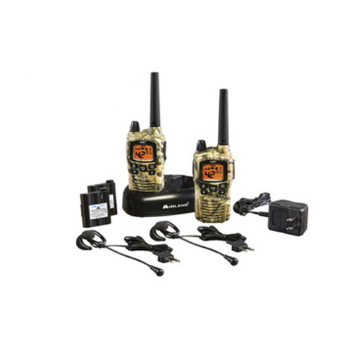 Midland Radios Midland Radios FRS/GMRS 2-Way Radios 42 Channel Ear/Mic Battery/Charger, Mossy Oak Break Up GXT895VP4