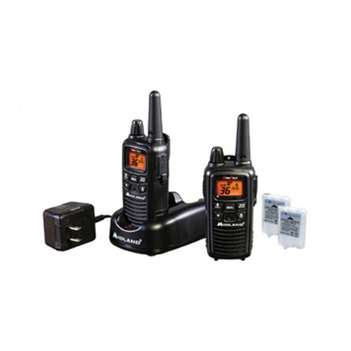 Midland Radios Midland Radios FRS/GMRS 2-Way Radios 36 Channel/30 Mile, Battery/Charger, Black LXT600VP3