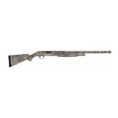 "Mossberg 500 Pump Action Shotgun Waterfowl, 12 gauge, 28"" Barrel, Vented Rib, Fiber Optic Sights, Max 4 Camo 52266"