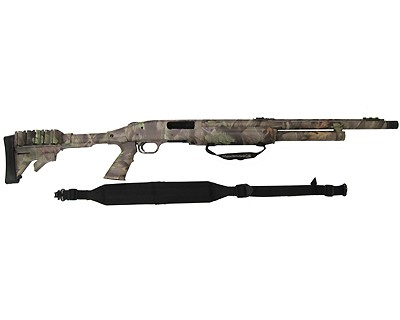 Mossberg 500 Pump Action Shotgun Tactical Turkey, 12 Gauge, Fiber Optic Sights, Ported, Realtree Hardwood 53263
