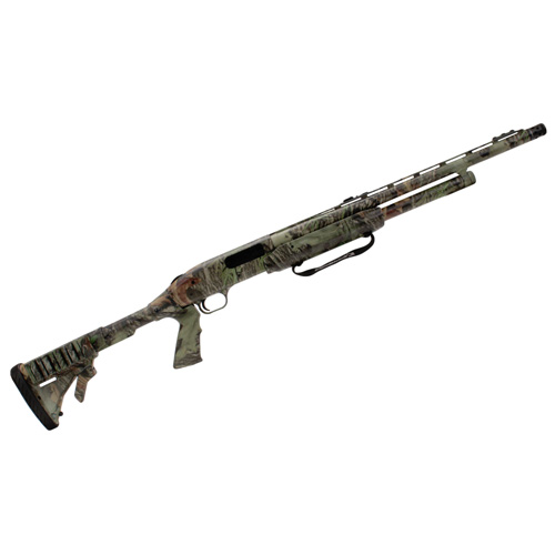 mossberg 500 tactical turkey 12 gauge 20 u0026quot  blued  adjustable synthetic  5 round mossy oak obsession