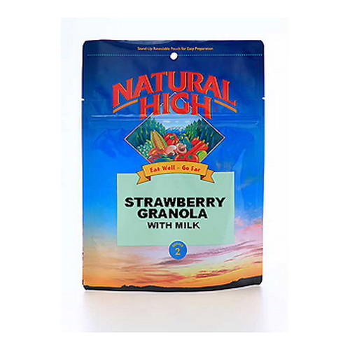 Natural High Strawberry Granola w/Milk Serves 2