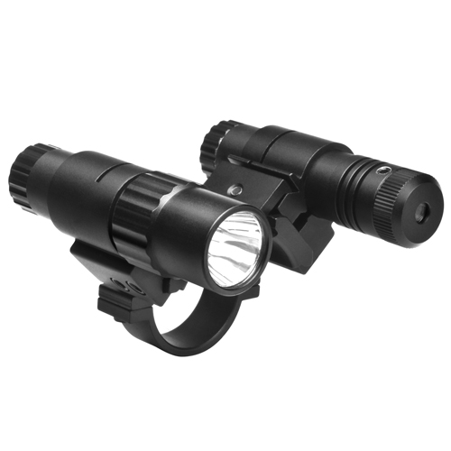 NcStar NcStar 30mm Double Rail Adapter/Flashlight/Green Laser ASFLG30