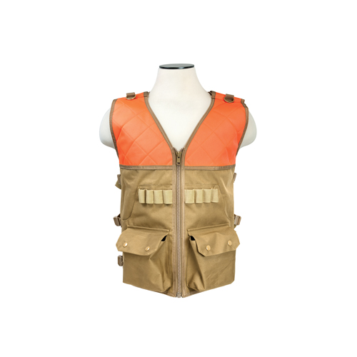 NcStar NcStar Hunting Vest/Blaze Orange And Tan CHV2942TO