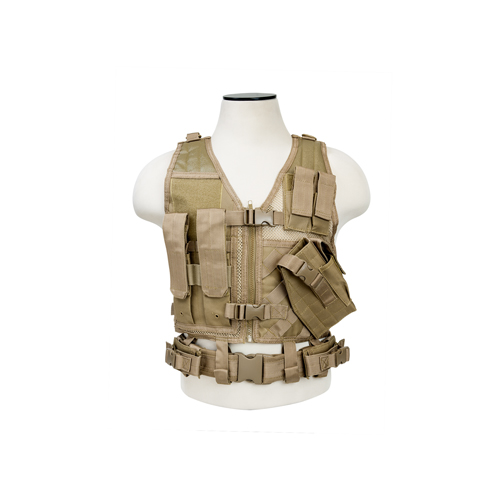 NcStar NcStar Tactical Vest Childrens, Tan CTVC2916T