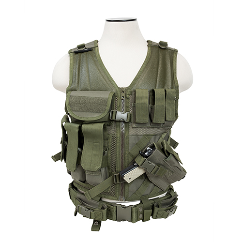 NcStar NcStar Tactical Vest Green, Large CTVL2916G