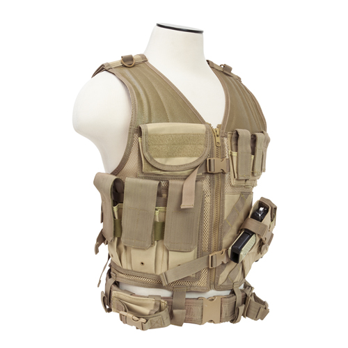 NcStar NcStar Tactical Vest Tan, Large CTVL2916T
